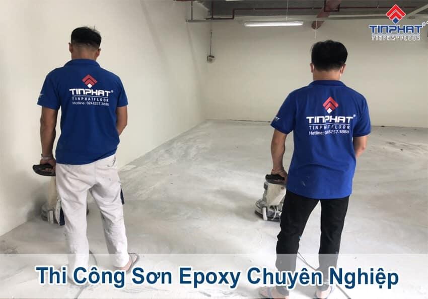 Sơn Epoxy Tín Phát thi-cong-son-san-epoxy-nha-xuong-dat-chuan-ky-thuat